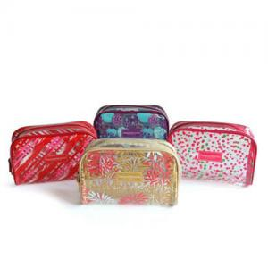 China Waterproof Custom Cosmetic Bags , PVC Printed Zipper Tiny Toiletry Makeup Pouch Bag  on sale
