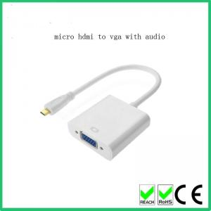 China Good quality Micro High-Definition Multimedia Interface TO VGA Adapter Converter Cable on sale