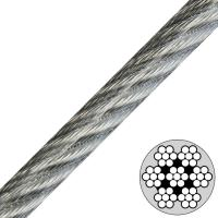 7x7 Vinyl Coated Steel Cable , Type Ss 302/304 stainless steel wire rope