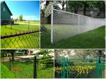 knuckled Chain link fence ( Diamond wire mesh )