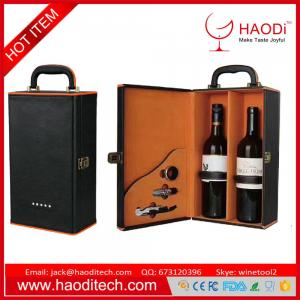 China Double Layered Leakproof Resuable Wine Leather Tote Bag Wine Bottler Carriers on sale