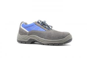 China Suede Leather Upper Fashionable Athletic Safety Shoes For Workplace Mesh Lining on sale