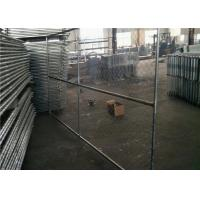 China Vinyl Coated Temporary Chain Link Fence Galvanized Wire 50x50mm Mesh Size on sale