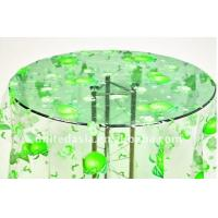 Eco-friendly PVC Dining Table Cloth With Fruit Design , Clear Table Cover