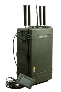 China 200 - 2700Mhz Portable Frequency Jammer , 50 - 200m Portable Mobile Signal Jammer on sale