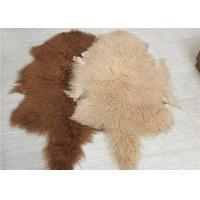 China Real Grey Mongolian Sheepskin Rug 20X35 For Home Sofa Throw Covers on sale