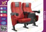 ISO Certification Padding Armrest Theatre Seating Chairs Flame Retardant Fabric