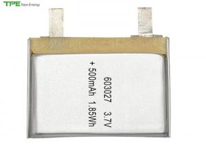 China TPE603027 Rechargeable Lithium Ion Polymer Battery Pack 3.7 V 500mah For GPS Tracker on sale