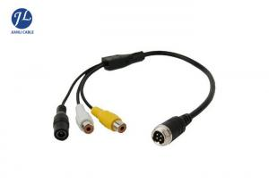 China Male To Female 4 Pin Aviation Cable To RCA Video Audio Connectors Automotive Rear View Camera System on sale