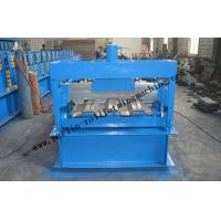 China Galvanized Steel Floor Deck Roll Forming Machine With Coiler Car ,  Floor Tile Making Machine on sale