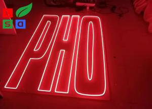 China LED Neon Name Sign Letters Flex Signage With Clear Backing for outdoor on sale