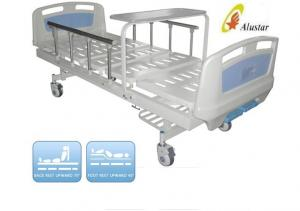 China Luxuary Foldable Aluminium Railing Medical Hospital Beds With Overbed Table ( ALS-M217) on sale