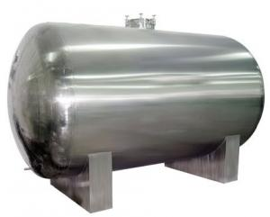 China High Capacity SS 304 Natural Gas Pressurized Water Tank Water System Pressure Tank on sale