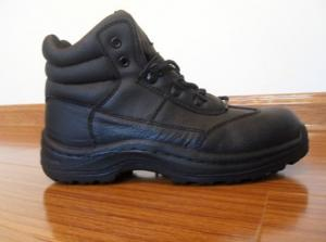 China 7000 pairs top grade Leather+Rubber steel toe working shoes on sale