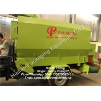 Mobile Silage Spreader Machine TMR Feed Mixer For Dairy Cows , Diesel Engine