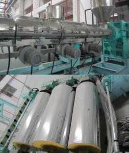 China Automatic Double layer PP PS PE Plastic Sheet Extrusion Machine 2.5m-26m/min on sale