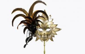 "China Mask with stick Masquerade       26""1902F on sale"