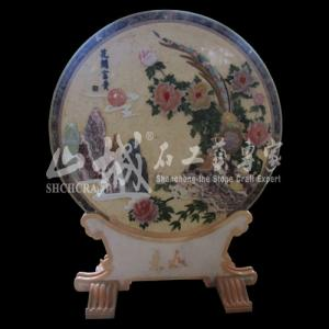 China Natural Stone Home Decoration Multi-color Screen on sale