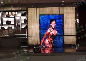 China P4 Indoor / Outdoor Advertising Led Display Screen Full Color With 62500sqm Density on sale