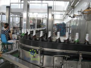 China 1500BPH - 16000BPH 容量のガラス ビンのためのフル オート ビール充填機ガラス on sale