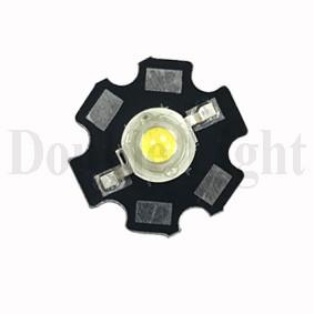 China High Power White SMD LED PCB Board 20mm*20mm With Lens Diameter 5.4mm CCT 5000-6000K on sale
