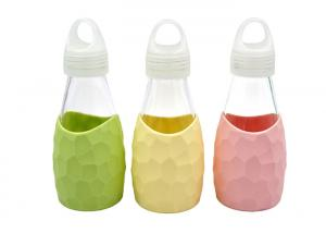 China Kids Unbreakable Glass Water Bottle / Portable Glass Water Bottle on sale