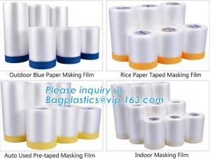 China Outdoor Paper Masking Film, Rice Paper Taped Masking Film, Auto Used Pre-Taped Masking Film, Indoor Masking Film, Cloth on sale