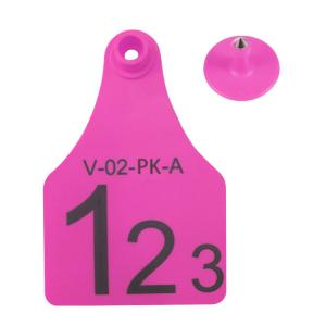 China One Set Of Re-used Ear Tag , RFID Ear Tag , Plastic + ABS Materials With High Tension on sale