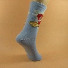 China OEM Autumn Grey Childrens Thermal Socks With Cartoon Pattern For Boys on sale