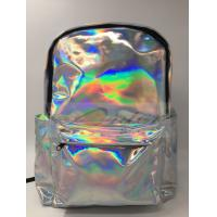 Customized Logo Laptop Messenger Bags Laser PU Hologram Backpack PU Material