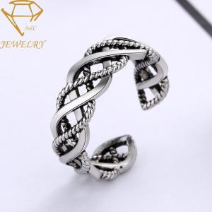 China Antique Silver Plating 925 Sterling Silver Engagement Ring For Men on sale