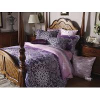 China Long Staple Cotton Sateen Bedding Sets Elegent Pink Bed Sets For Wedding on sale
