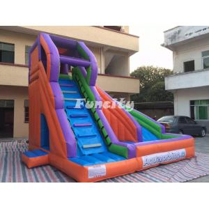 China Large Scale Inflatable Turning Slide WIth Safe Stair Climbing Fire Retardant on sale