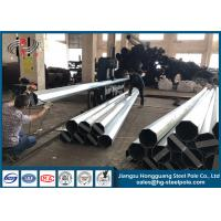 China Conical Hot Dip Galvanized Steel Pole ISO9001 Standard Q345 35FT on sale