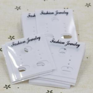 China Earrings jewelry accessories packaging card card card upscale flannel earrings earrings on sale