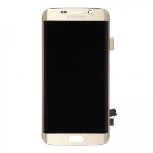 China OEM Samsung Galaxy S6 Edge SM-G925V/G925P/G925R4/G925I/G925F/G925A LCD Screen and Digitizer Assembly - Gold - Grade A+ on sale