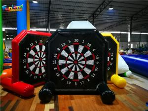China Shooting Games 2.5m 10m Velcro Inflatable Soccer Dart Board on sale