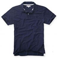 China Wide Collar Men's Summer Polo Shirts , 100% Heavy Washed Cotton Polo Collar T Shirt on sale