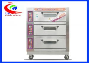 China Commercial Baking Equipment / Commercial pie baking machine 3 decks 9 trays electric pizza oven with wheel on sale