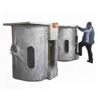 China Scrap Induction Melting Furnace For Metal Steel / Copper 1000HZ Frequency on sale