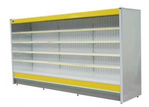 China Easy Cleaning Supermarket Display Chiller , Fruit Vegetable Display Freezer on sale