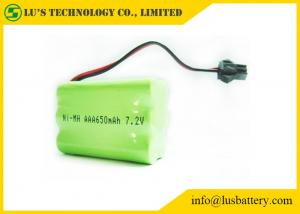 China 7.2V 650mah AAA Nickel Metal Hydride Rechargeable Batteries on sale