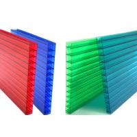 China 16mm Fourwall Colored Hollow Polycarbonate Sheet Ten Years Guarantee on sale