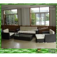 China Modern Outdoor Wicker Sofa With Alum Frame ,  5pcs Rattan Sofa Set on sale