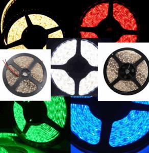 China 5M 3528 SMD 300 / 600LED SMD Strip Light , Rgb Led Strip Cool White Warm Blue Red on sale