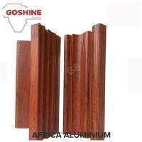 Foshan aluminum sliding windows profiles wooden color with decoration glass