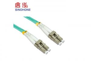 China PVC LSZH Material Fiber Optic Patch Cord , SC Multimode Fiber Cable on sale