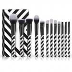 Zebra Pattern Cosmetic Brush Set Exquisite Black And White Striped Photo Studio Dedicated