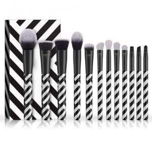 China Zebra Pattern Cosmetic Brush Set Exquisite Black And White Striped Photo Studio Dedicated on sale