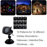 Holiday Light Romantic Moving Sparkling LED Snowflake Landscape Laser Projector Wall Lamp Xmas Light Bar Wedding Party